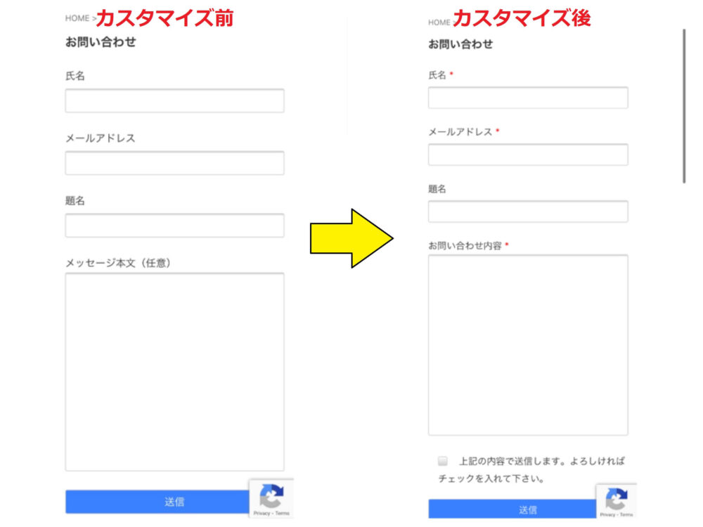 Contact Form7カスタマイズ